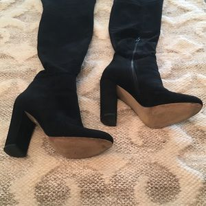 ALDO Black Heeled Over the Knee Boots Size 6.5